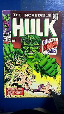The Incredible Hulk Vol. I #102 Excellent Condition