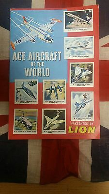 LION COMIC 1963 FREE COMIC GIFT Ace Aircraft of the World in Ace Condition!!