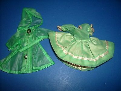 Ginger Cosmopolitan doll clothes partial gift set Montgomery Ward Raincoat dress