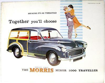 MORRIS Minor Traveller 1000 Original Car Sales Brochure Jul 1960 #H & E 6094