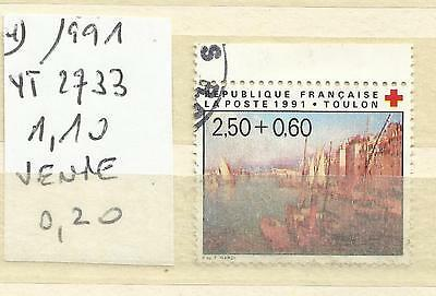 Timbre France Oblitere Annee 1991 N° 2733 (4)