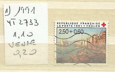 Timbre France Oblitere Annee 1991 N° 2733 (1)