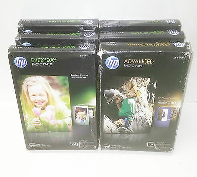 JOBLOT of 7 Packs HP Everyday Glossy Photo Paper  200gsm-250gsm (White)