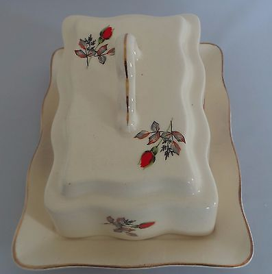 Vintage Cheese/butter Dish - Floral Pattern
