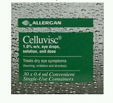 Allergen Celluvisc 1% w/v Eye Drops Catrmellose Solution 30 single Dose x 3