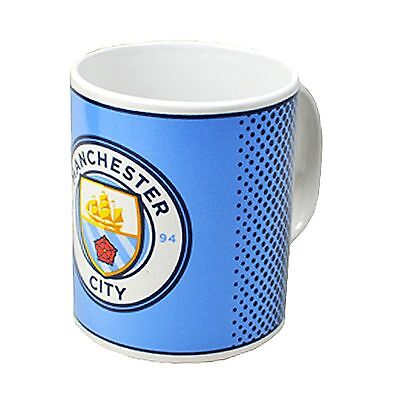 Manchester City FC Official Fade Ceramic Football Crest Mug