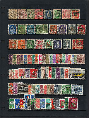 "SVIZZERA - SUISSE ""lot of used stamps"""