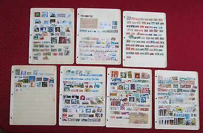 Worldwide Collection of Approx 500 Stamps, Mint & Used, On Old Stock Sheets,C196