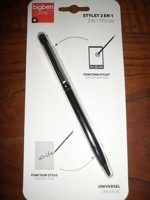 NEUF TELEPHONE Stylet 2 en 1 Universel Stylet-Stylo compatible smartphone