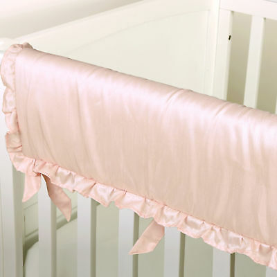 Arianna Pink Padded Teething Crib Rail Guard by The Peanut Shell