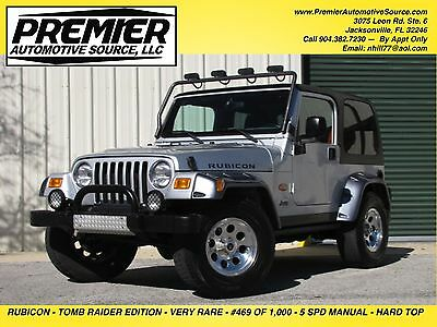 2003 Jeep Wrangler TJ RUBICON TOMB RAIDER ED. ONE OWNER CLEAN LOW MILES HARDTOP 5 SPEED MUST SEE STOCK FLORIDA JEEP NOT LIFTED
