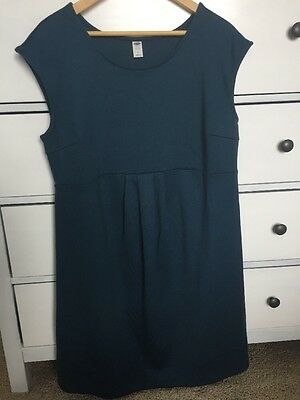 EUC Old Navy Maternity Dress Sleeveless In Teal Size Large