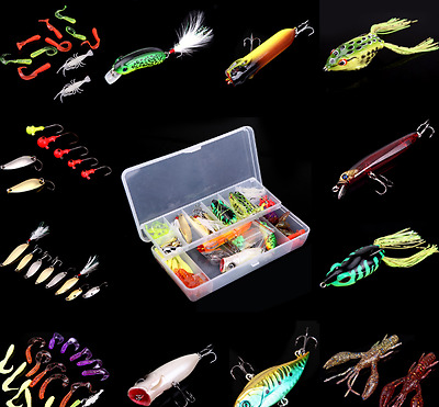 New Fishing Lure Artificial Hard Boil Set Two Layer Spoon Tackle Box 2017