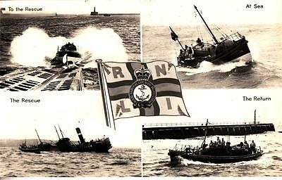 DB98. Vintage Postcard. RNLI Lifeboat on a rescue.