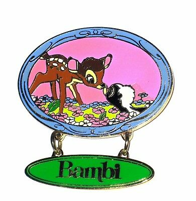 LE Disney Pin✿Bambi Flower Skunk Classic Movie Dangle Sweet Kiss Mickey & Pals