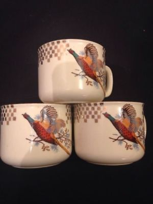 J&G Meakin - Trend Range Pheasant design cups x 3 - Made in England (1504)