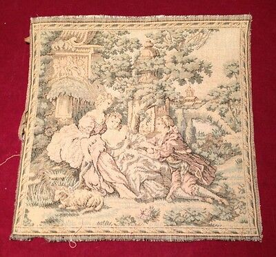 Victorian Tapestry Fabric On Original Piece Of Wood