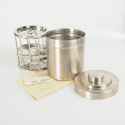 = Nikor Stainless Steel 2x3 4x5 Adjustable Film Developing Tank with Box Manual