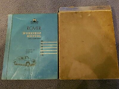ROVER WORKSHOP MANUAL 1950 Onwards 1961 copy for Car Owners Servicing Book