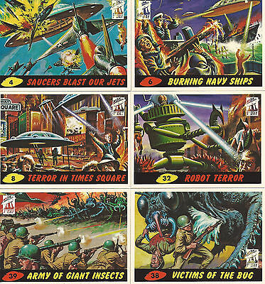 Mars Attacks! Archives 1994 First Day 6 Card Lot! Plus 2 Original Wrappers!