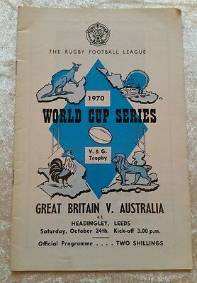24/10/1970 Rugby League Great Britain v Australia World Cup Series Programme