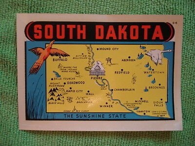 Vintage South Dakota Travel Decal - The Sunshine State