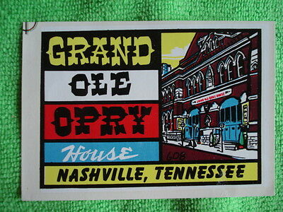 Vintage Grand Ole Opry House Nashville TN Travel Decal