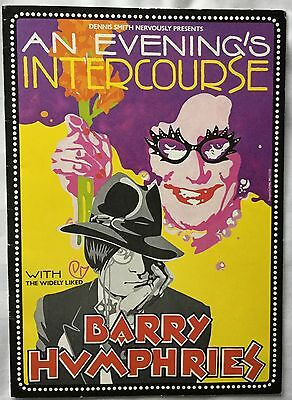 BARRY HUMPHRIES. Autographed Programme. at the Theatre Royal 1982.