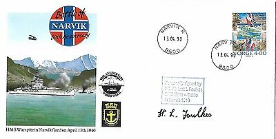 Battle Of Narvik Signed By Po Herbert L Foulkes. 12/50.