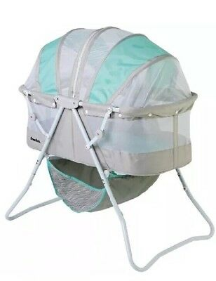 Dream On Me Karley Bassinet, Blue/Grey=