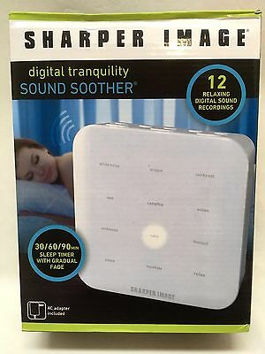 Sharper Image Digital Tranquility Sound Soother 12 Relaxing Sound Recordings