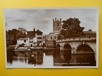 Angel Hotel Boats & Bridge HENLEY ON THAMES Oxfordshire RP 1933