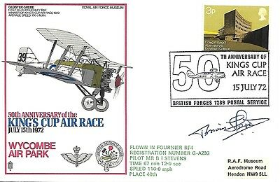 King Cup Air Race Signed By Mr B I Stevens. No.144.
