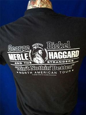 Vintage 1980s Merle Haggard The Strangers Concert Tour Black T Shirt Dickel
