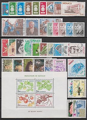 MONACO ANNEE COMPLETE 1981 timbres neufs xx Cote 112 €