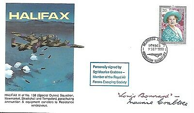 Halifax Cover Signed By Louis Bonnard + Maurice Crabtree.47/50.