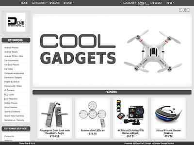 Stocked Gift/ Electronic Website Shop Store. FREE domain. 12m hosting | D5Grey