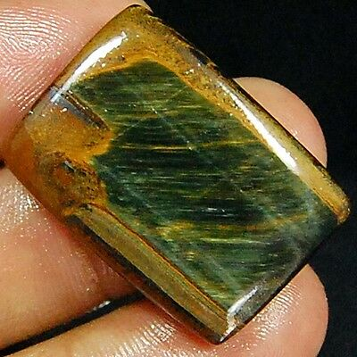 "50.00 Cts 100% Natural Pietersite Fire ""tiger Eye"" Oblong Gemstone Cabochon"
