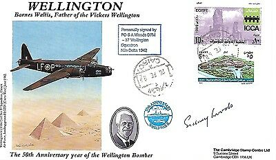 Cambridge Cover. Wellington Signed By Po S A Woods.  37/50.