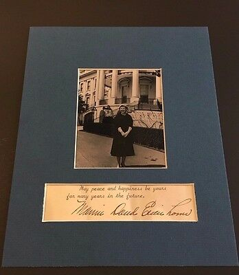 Mamie Doud Eisenhower Signed Letter First Lady Autograph 1955 White House US Ike