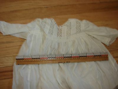 """Antique Christening Gown- 26"""" long"""