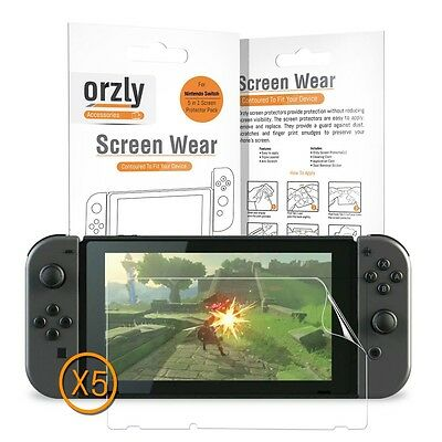 IN STOCK Nintendo Switch Plastic Film Screen Protector Guard - 5 in 1 Pack ORZLY
