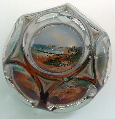 Victorian Glass Paperweight Of Bournemouth From East Cliff