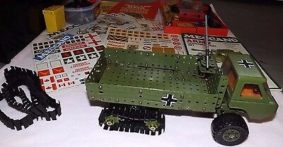 meccano army construction set 1978 & highways multikit, booklets, stickers