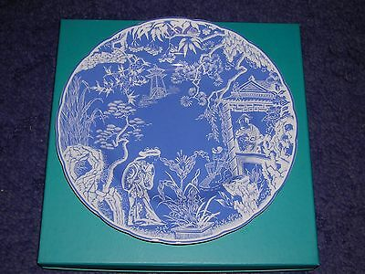 """Royal Crown Derby ~ New Mikado Design ~ 8.4"""" Plate ~ Boxed"""