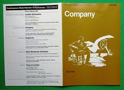 Contemporary Music Network jazz tour programme 1982: Company Derek Bailey