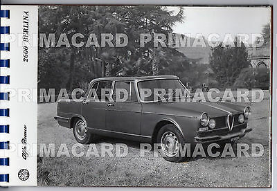 79743 ALFA ROMEO 2600 BERLINA CAR AUTOMOBILE ALBUM 11 PHOTOS ABOUT cm23x16