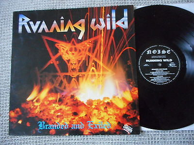 RUNNING WILD Branded And Exiled GERMAN  NOISE 1985