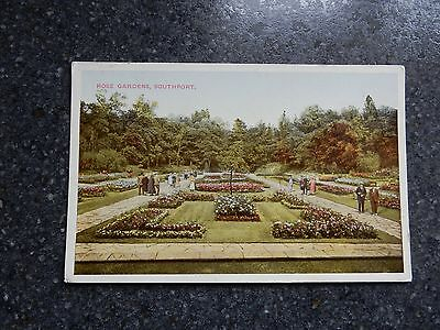 Early postcard- Rose Gardens - Southport Lancashire