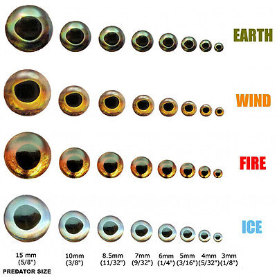 FISH SKULL LIVING EYES Realistic 3D Holographic Adhesive Fly Tying & Lure Making